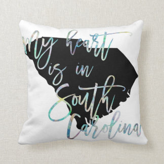 My Heart is in South Carolina state SC Iridescent Cushion
