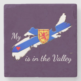 My Heart is in the valley   marble coaster purple