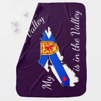 My Heart is in the valley  N.S. Receiving Blanket