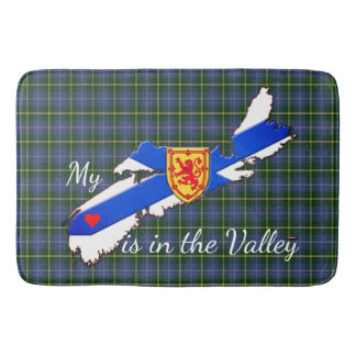 My Heart is in the valley Nova Scotia Bathroom mat