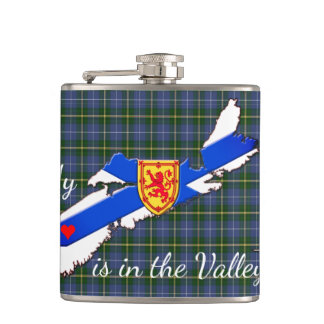 My Heart is in the valley Nova Scotia drink flask