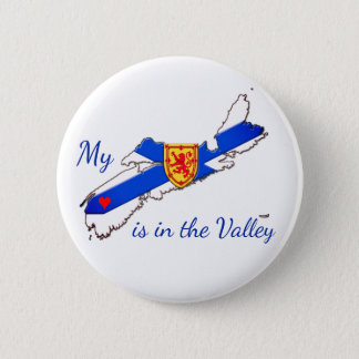 My Heart is in the valley Nova Scotia pin Badge