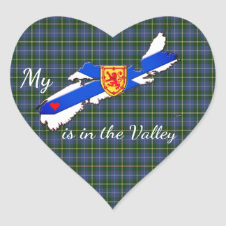 My Heart is in the valley Nova Scotia sticker
