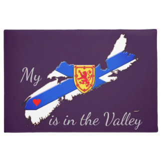 My Heart is in the valley Nova Scotia welcome mat