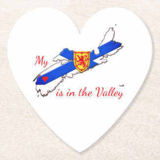 My Heart is in the valley  paper party coaster