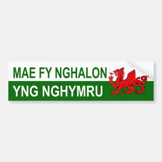 My Heart Is In Wales Bumper Sticker