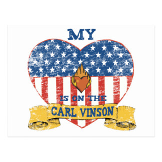 My Heart is on the Carl Vinson Postcard