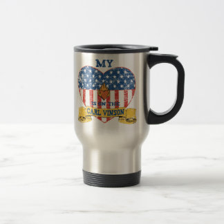 My Heart is on the Carl Vinson Stainless Steel Travel Mug