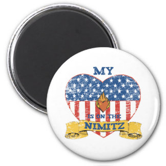 My Heart is on the Nimitz 6 Cm Round Magnet