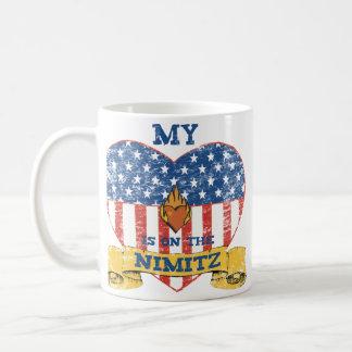 My Heart is on the Nimitz Basic White Mug