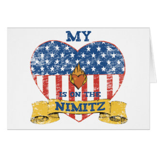 My Heart is on the Nimitz Greeting Card
