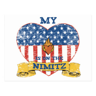 My Heart is on the Nimitz Postcard