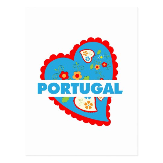 My heart is Portuguese Postcard