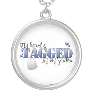 My heart is tagged by my Soldier Round Pendant Necklace
