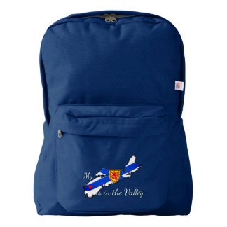 My Heart is the valley Nova Scotia back pack Backpack