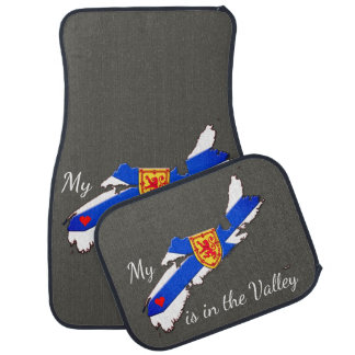 My Heart is  the valley Nova Scotia Car Mats grey