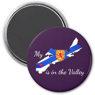 My Heart is the valley Nova Scotia fridge magnet