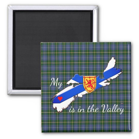 My Heart is the valley Nova Scotia fridge magnet