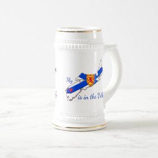 My Heart is  the valley Nova Scotia stein beer mug