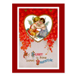 My Heart is Thine Sweet Valentine Post Cards