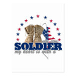 my heart is with a soldier my son postcard