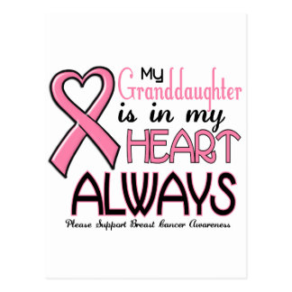 My Heart Is With My Granddaughter BREAST CANCER Postcards