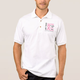 My Heart Is With My Mom Breast Cancer Polo T-shirts