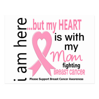 My Heart Is With My Mom Breast Cancer Postcards