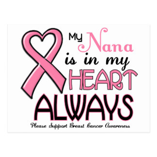 My Heart Is With My Nana BREAST CANCER Postcard