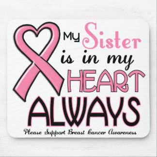 My Heart Is With My Sister BREAST CANCER Mouse Mat