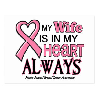 My Heart Is With My Wife BREAST CANCER Post Cards