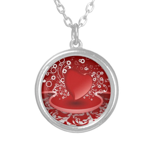 My Heart..Loves Silver Plated Necklace