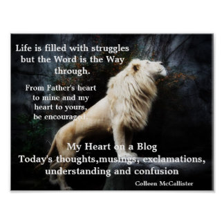 My Heart on a Blog Poster