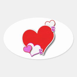 My Heart Oval Sticker
