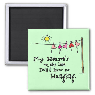 My Heart s on the Line Valentines Gear Fridge Magnet