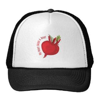 My Heart Skips A Beet Mesh Hat