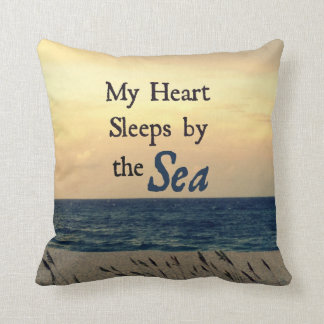 MY HEART SLEEPS BY THE SEA PILLOW