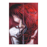 my heart soars like a blood red artefact canvas print