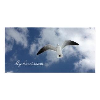 My heart soars photo cards