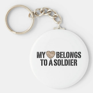 My Heart Soldier Basic Round Button Key Ring