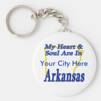 My Heart & Soul Are In Arkansas Key Ring