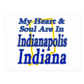 My Heart & Soul Are In Indianapolis Indiana Postcard