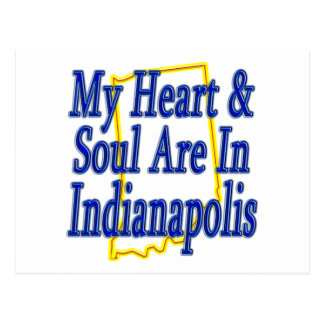 My Heart & Soul Are In Indianapolis Postcard