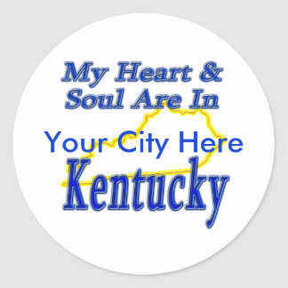 My Heart & Soul Are In Kentucky Classic Round Sticker