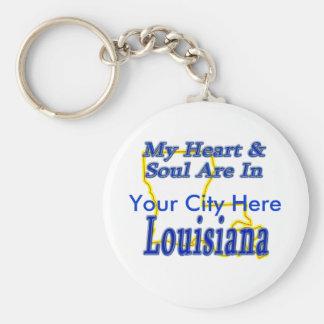My Heart & Soul Are In Louisiana Key Ring