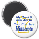 My Heart & Soul Are In Minnesota Magnets