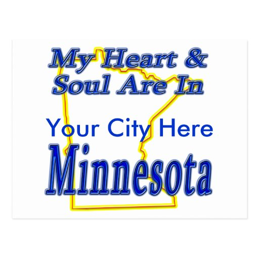 My Heart & Soul Are In Minnesota Postcard