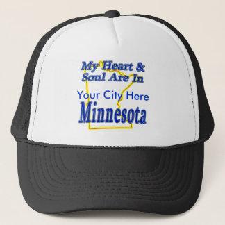 My Heart & Soul Are In Minnesota Trucker Hat