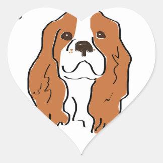 My heart & soul belong to my Cavalier Heart Sticker