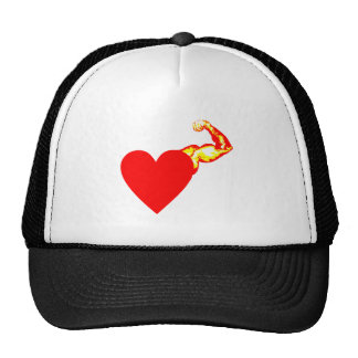 My heart strikes left mesh hat